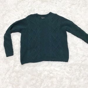 Topshop Cropped Crotchet Sweater